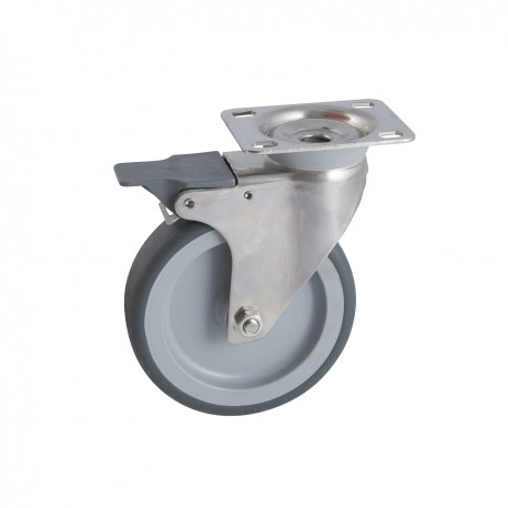 Roulette inox avec frein